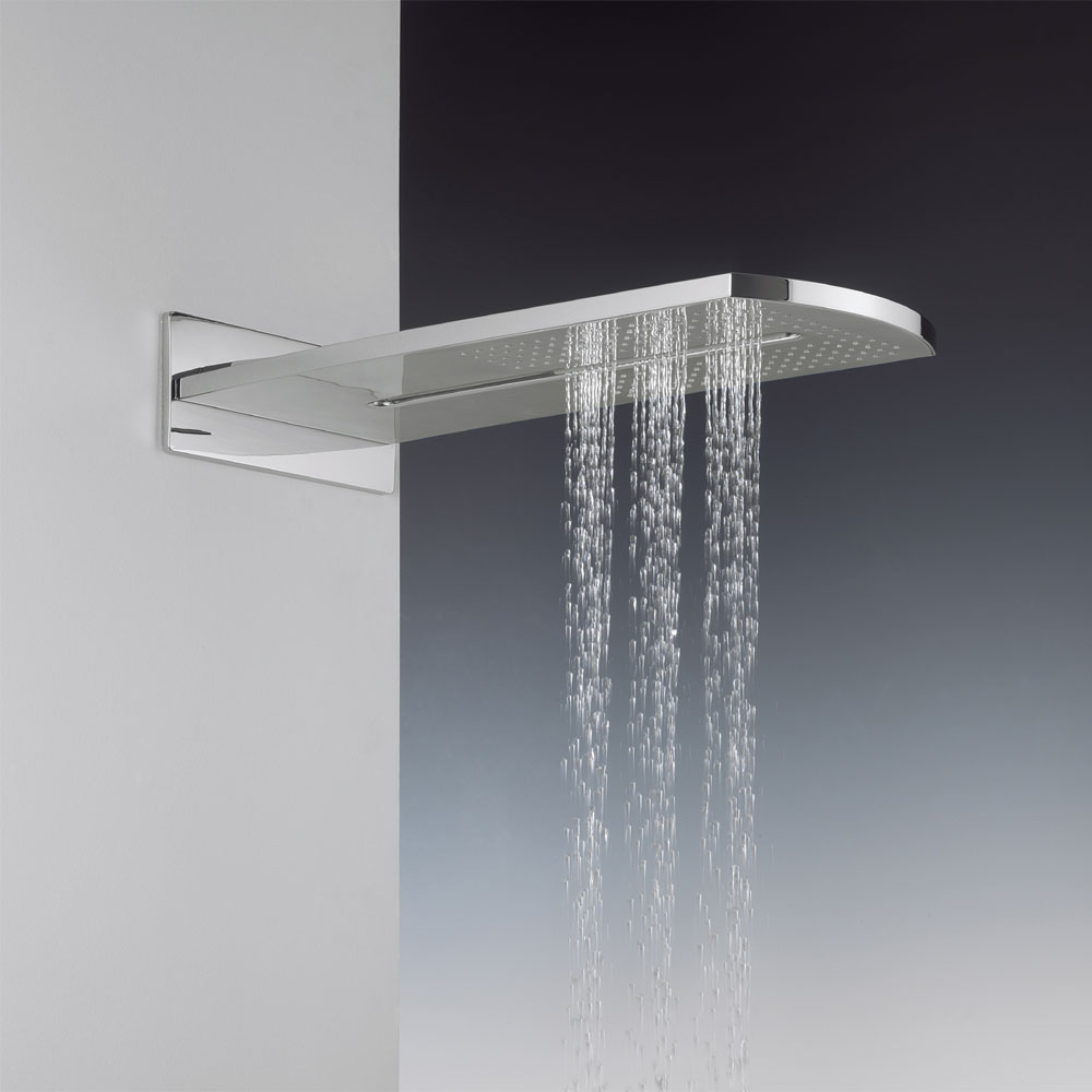 Crosswater - Elite Rectangular Fixed Showerhead - FH2000UC profile large image view 2