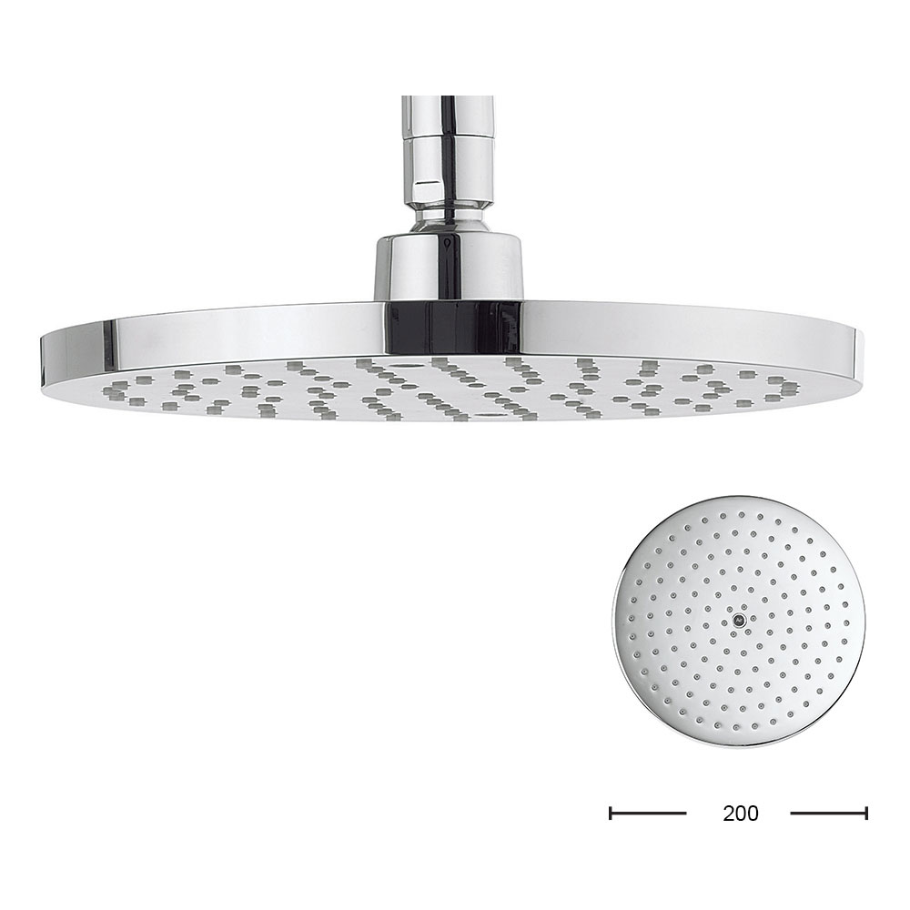 Crosswater - Central 200mm Round Fixed Showerhead - FH200C+ profile large image view 1