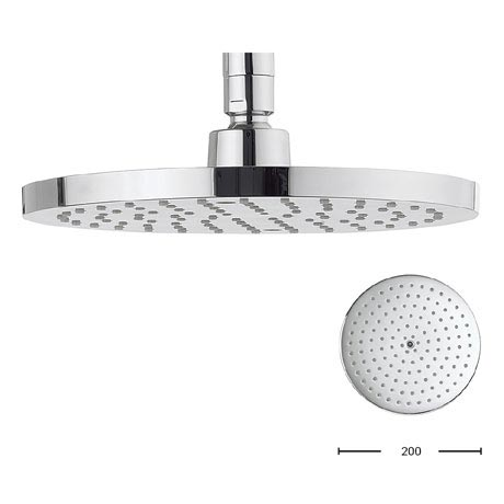 Crosswater - Central 200mm Round Fixed Showerhead - FH200C+