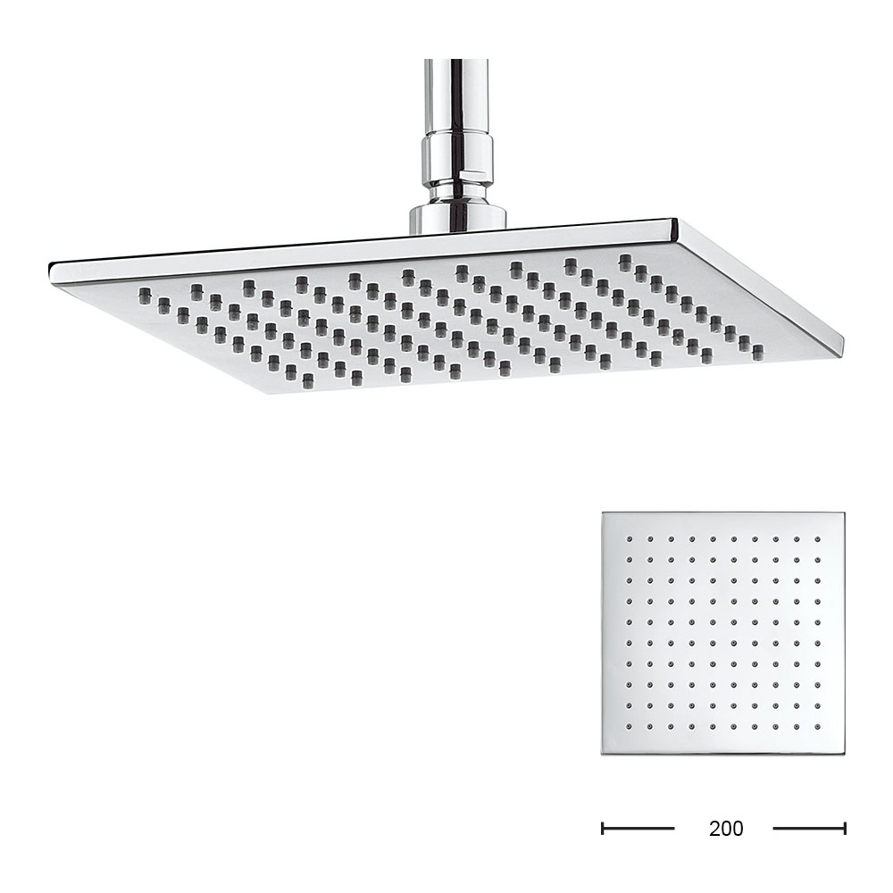 Crosswater - Zion 200mm Square Fixed Showerhead - FH220C profile large image view 1