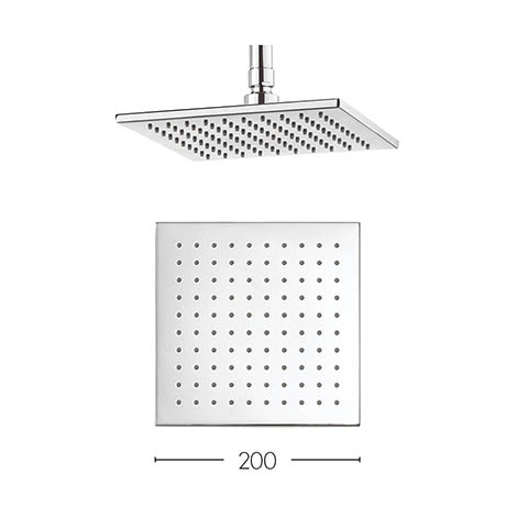 Crosswater - Zion 200mm Square Fixed Showerhead - FH220C