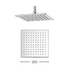 Crosswater - Zion 200mm Square Fixed Showerhead - FH220C profile small image view 1