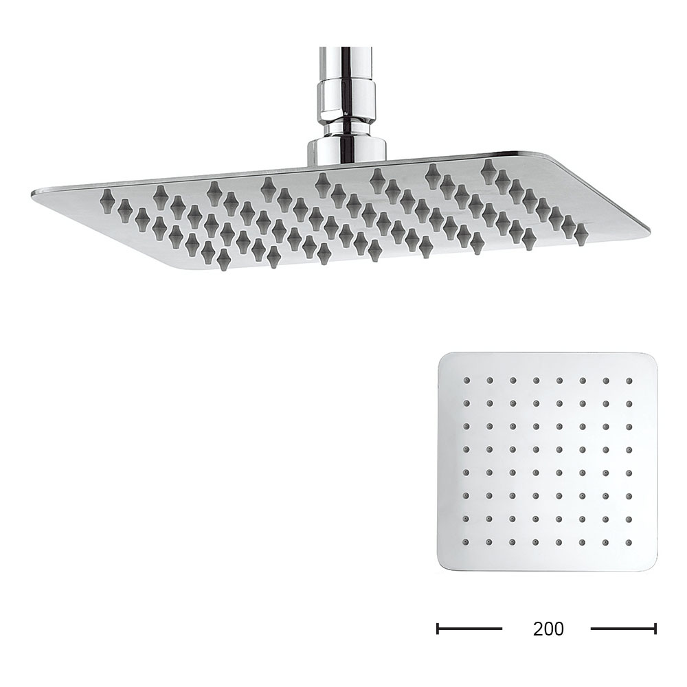 Crosswater - Glide 200mm Square Fixed Showerhead - FH220SR+ Large Image