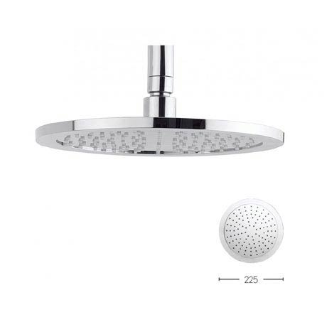 Crosswater Dial 225mm Round Fixed Showerhead - FH225C+