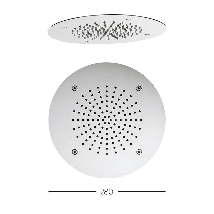 Crosswater 280mm Round Recessed Shower Head - FH280C