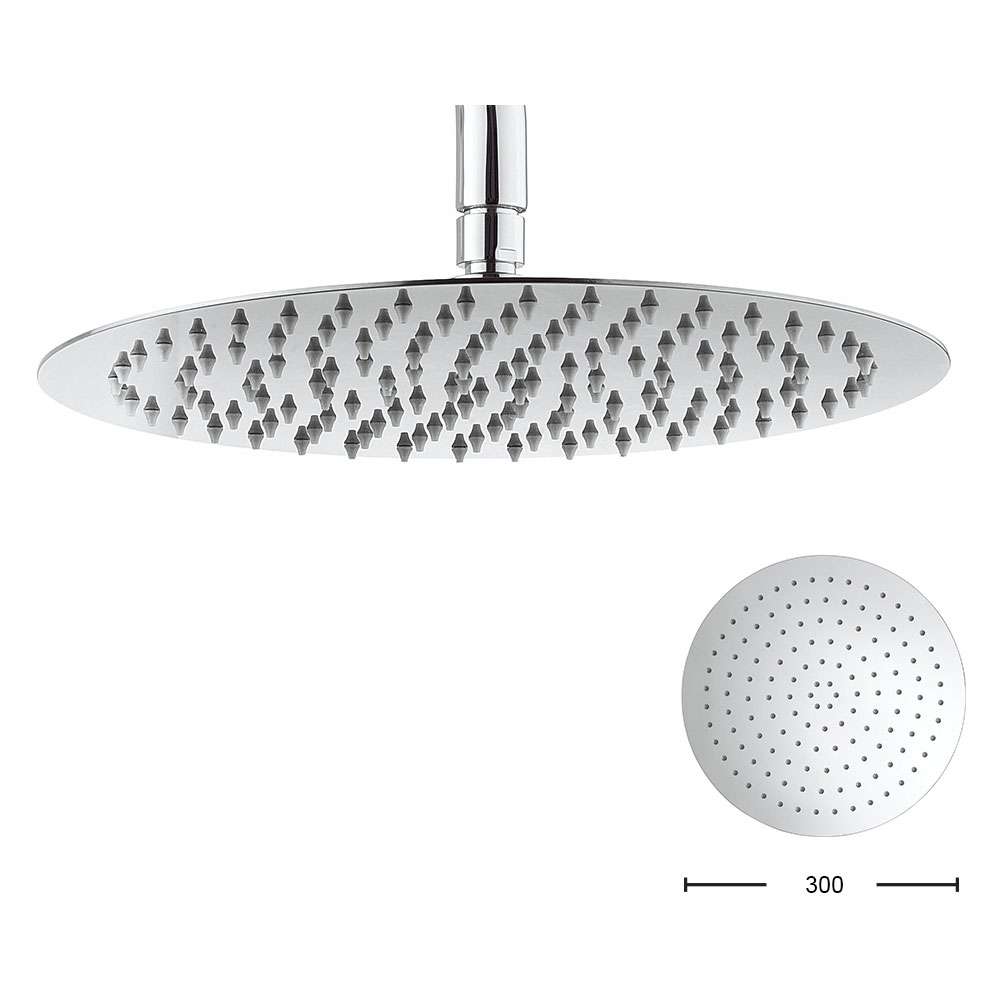 Crosswater - Central 300mm Round Fixed Showerhead - FH300SR+ Large Image