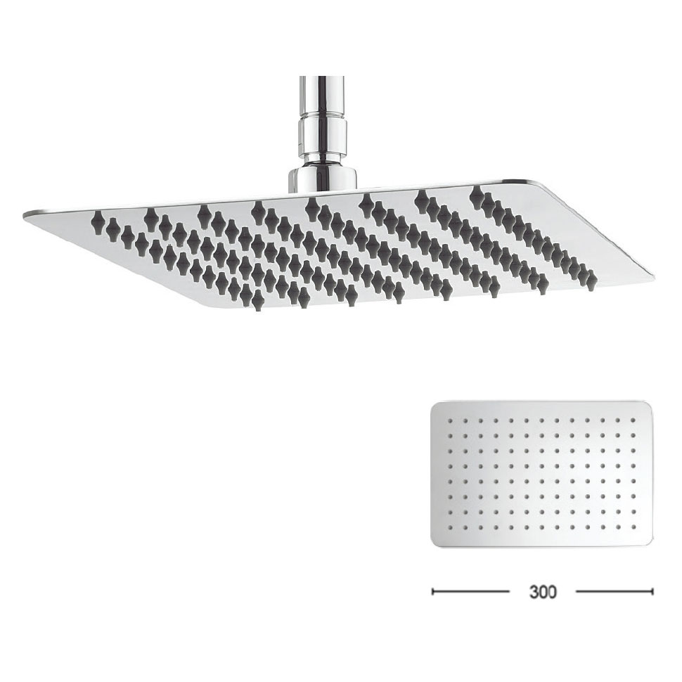 Crosswater - Glide 300mm Rectangular Fixed Showerhead - FH320SR+ profile large image view 1