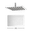 Crosswater - Glide 300mm Rectangular Fixed Showerhead - FH320SR+ profile small image view 1