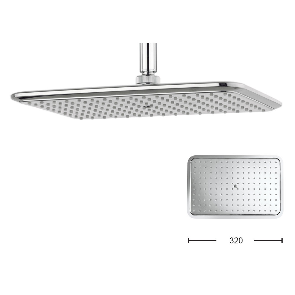 Crosswater - Essence 320mm Rectangular Fixed Showerhead - FH321C Large Image