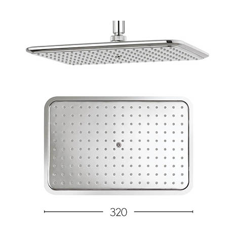 Crosswater - Essence 320mm Rectangular Fixed Showerhead - FH321C