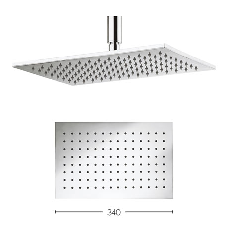 Crosswater Zion 340mm Rectangular Fixed Showerhead - FH322C