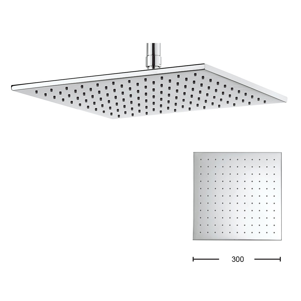 Crosswater - Zion 300mm Square Fixed Showerhead - FH330C Large Image