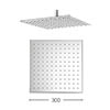Crosswater - Zion 300mm Square Fixed Showerhead - FH330C profile small image view 1
