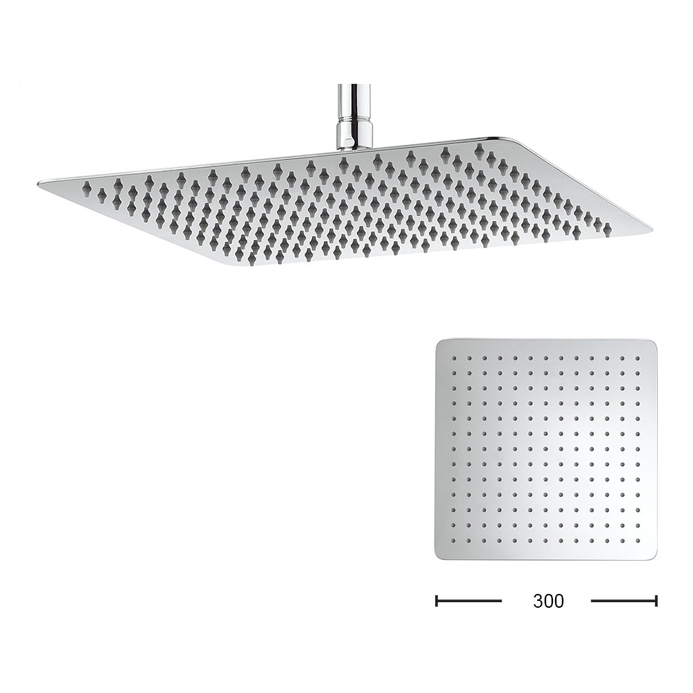Crosswater - Glide 300mm Square Fixed Showerhead - FH330SR+ profile large image view 1