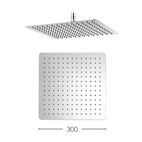 Crosswater - Glide 300mm Square Fixed Showerhead - FH330SR+