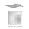 Crosswater - Glide 300mm Square Fixed Showerhead - FH330SR+ Small Image