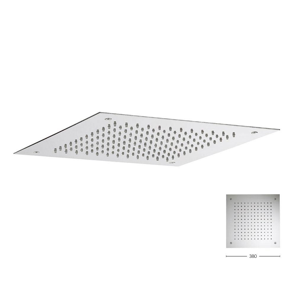 Crosswater 380mm Square Recessed Shower Head - FH380C Large Image