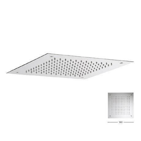 Crosswater 380mm Square Recessed Shower Head - FH380C