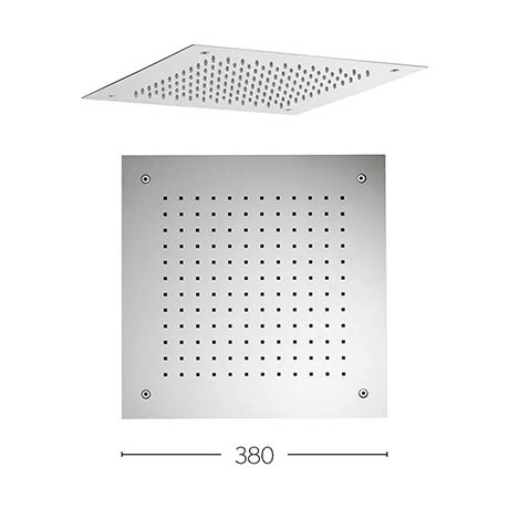 Crosswater 380mm Square Recessed Shower Head - FH380C