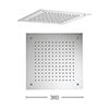 Crosswater 380mm Square Recessed Shower Head - FH380C profile small image view 1