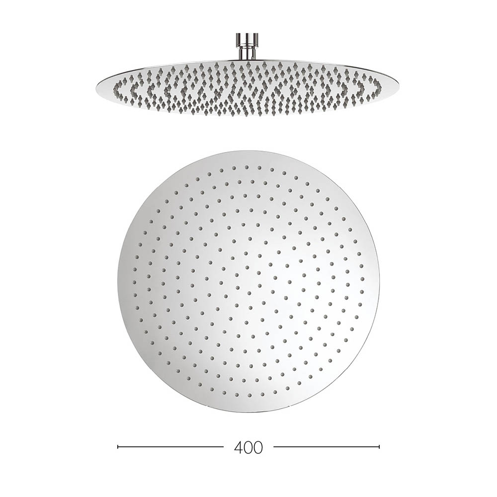 Crosswater - Central 400mm Round Fixed Showerhead - FH400SR+