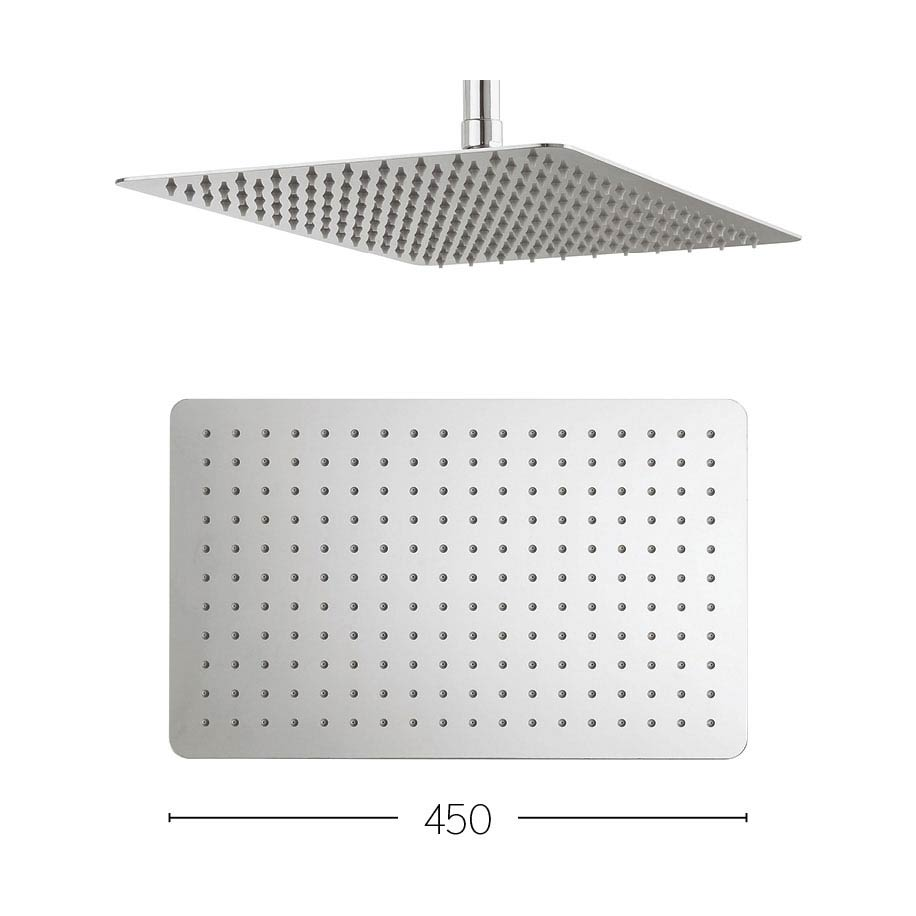 Crosswater - Glide 450mm Rectangular Fixed Showerhead - FH425SR+ Large Image