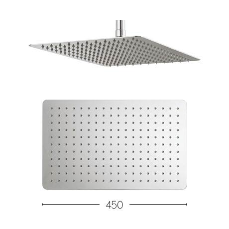 Crosswater - Glide 450mm Rectangular Fixed Showerhead - FH425SR+