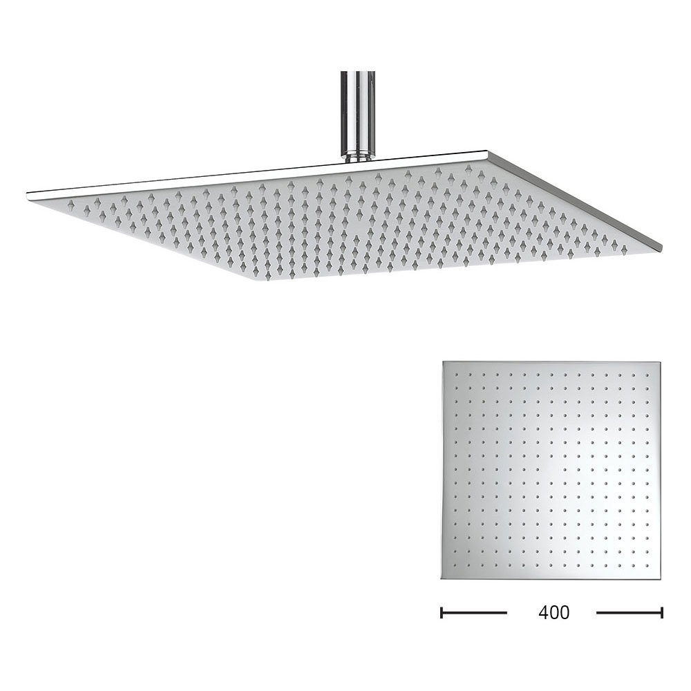 Crosswater - Zion 400mm Square Fixed Showerhead - FH440C Large Image