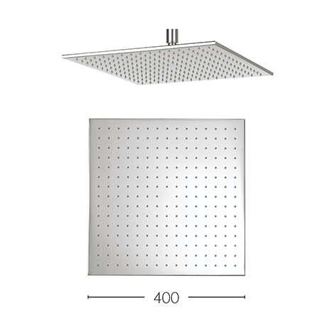 Crosswater - Zion 400mm Square Fixed Showerhead - FH440C