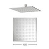 Crosswater - Zion 400mm Square Fixed Showerhead - FH440C profile small image view 1