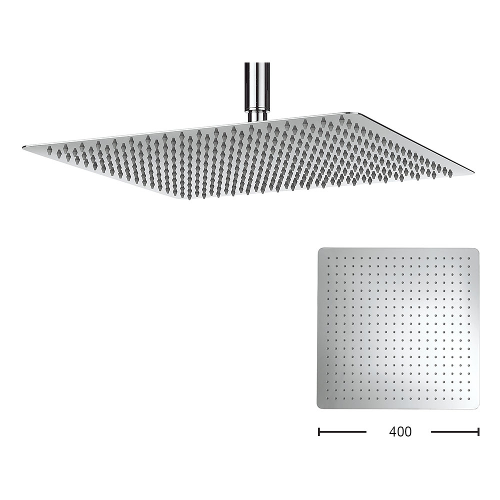 Crosswater - Glide 400mm Square Fixed Showerhead - FH440SR+ profile large image view 1