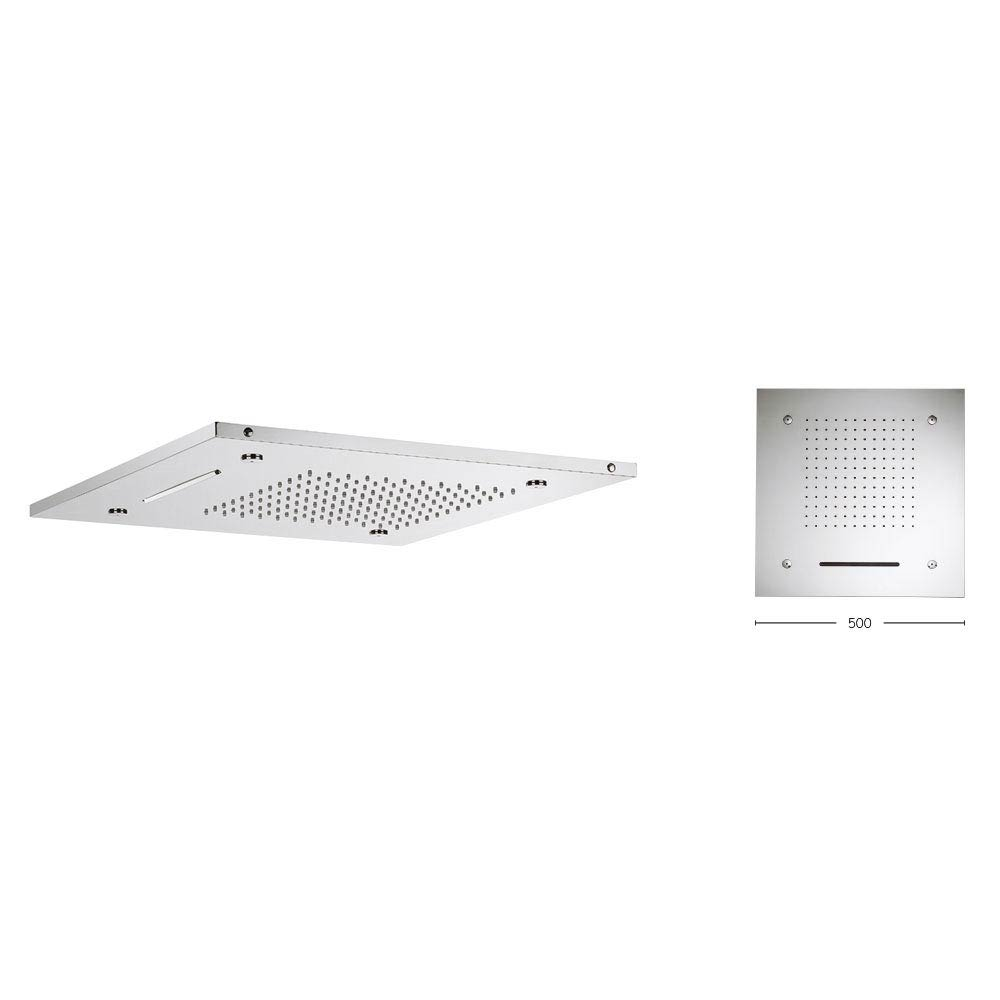Crosswater 500mm Square Multifunction Recessed Shower Head - FH500C Profile Large Image
