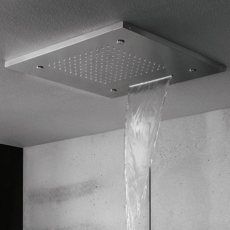 Crosswater 500mm Square Multifunction Recessed Shower Head - FH500C Large Image