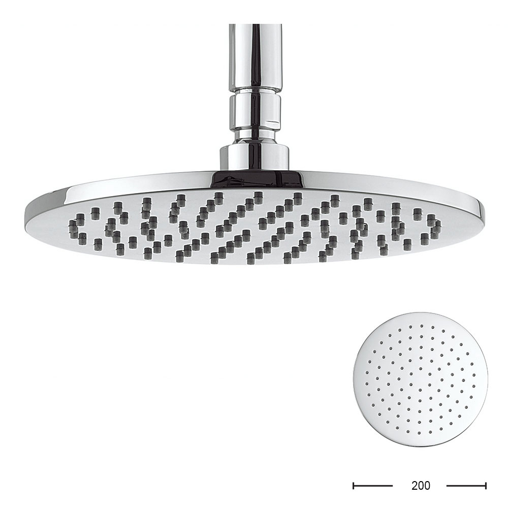 Crosswater - Contour 200mm Round Fixed Showerhead - FH614C+ profile large image view 1