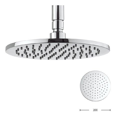 Crosswater - Contour 200mm Round Fixed Showerhead - FH614C+