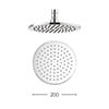 Crosswater - Contour 200mm Round Fixed Showerhead - FH614C+ profile small image view 1