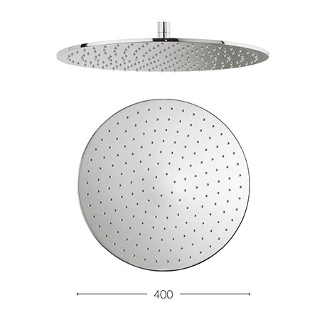 Crosswater - Contour 400mm Round Fixed Showerhead - FH617C+