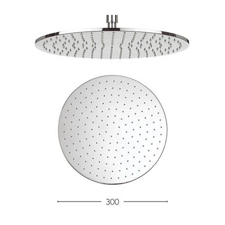 Crosswater - Contour 300mm Round Fixed Showerhead - FH618C+