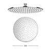 Crosswater - Contour 300mm Round Fixed Showerhead - FH618C+ profile small image view 1