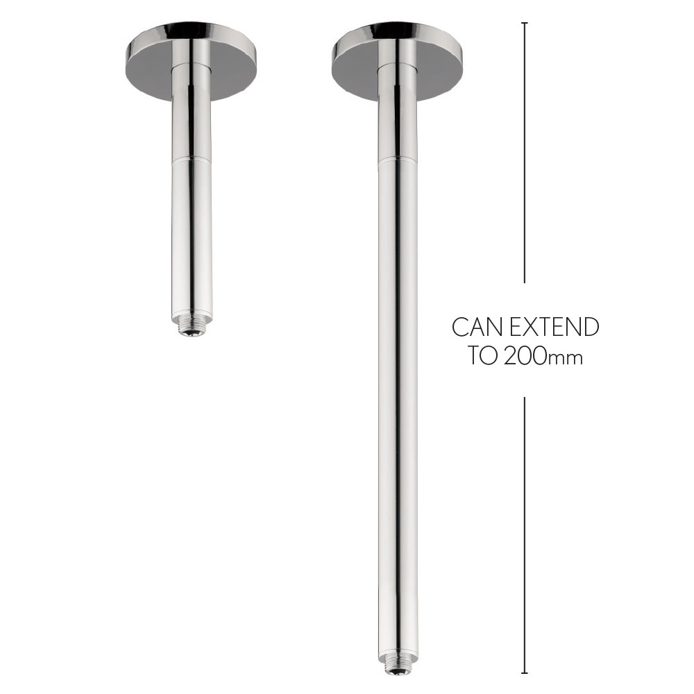 Crosswater - Rex 200mm Extendable Ceiling Shower Arm - FH685C Large Image