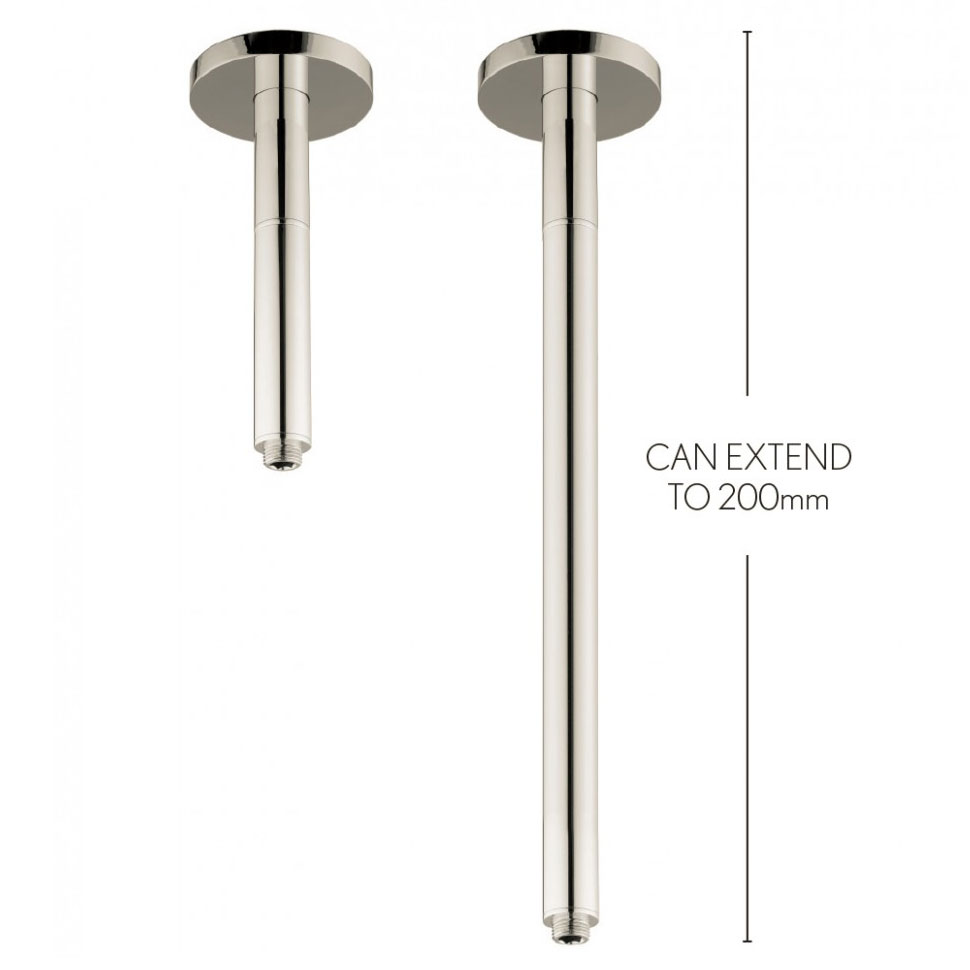 Crosswater - Rex 200mm Extendable Ceiling Shower Arm - Nickel - FH685N Large Image