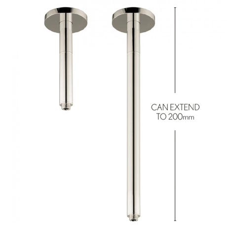 Crosswater - Rex 200mm Extendable Ceiling Shower Arm - Nickel - FH685N