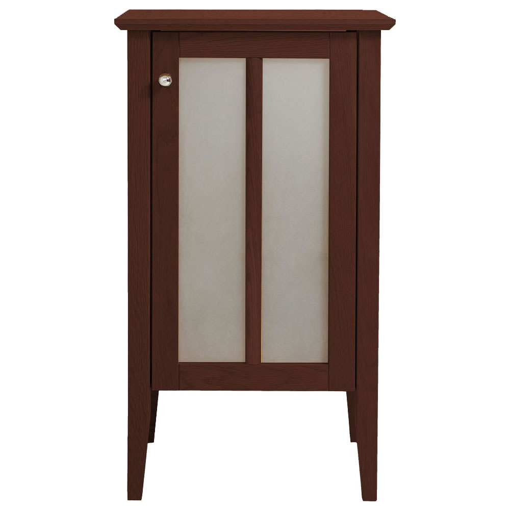 Heritage - Hidcote Small Freestanding Storage Unit with Chrome Handle - Walnut profile large image view 1