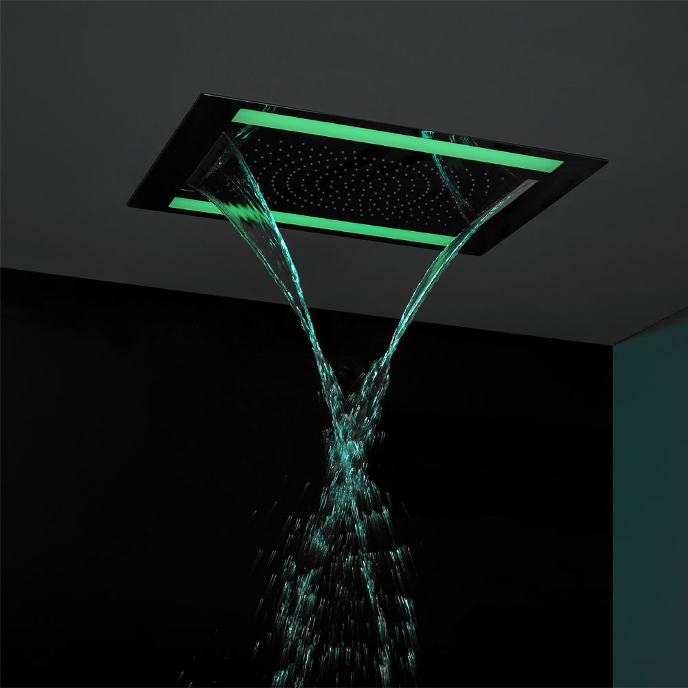 Crosswater - Rio Revive Showerhead with Lights and Double Waterfall - FHX610C Profile Large Image