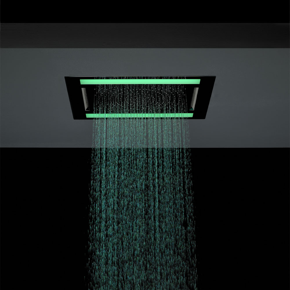 Crosswater - Rio Revive Showerhead with Lights and Double Waterfall - FHX610C In Bathroom Large Image