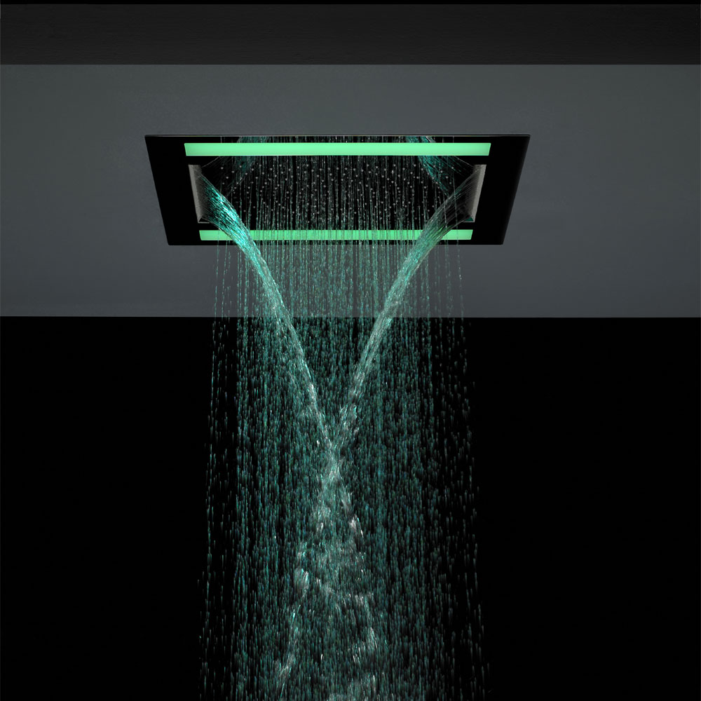 Crosswater - Rio Revive Showerhead with Lights and Double Waterfall - FHX610C additional Large Image