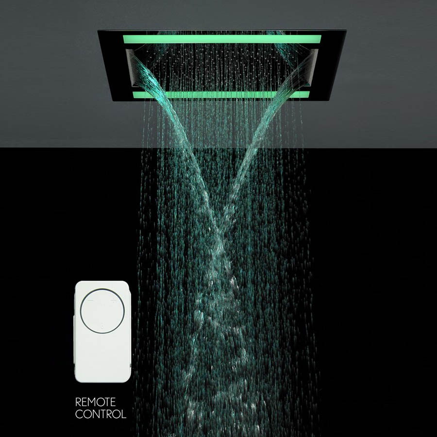 Crosswater - Rio Revive Showerhead with Lights and Double Waterfall - FHX610C