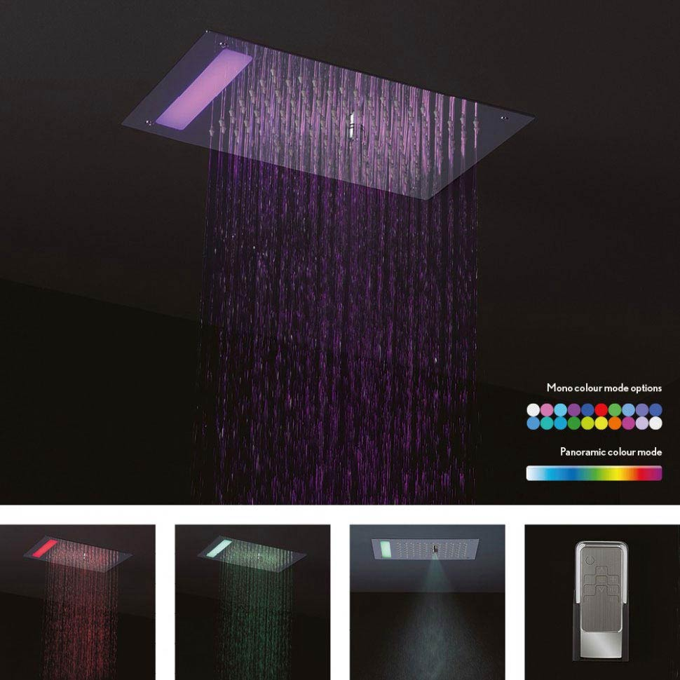 Crosswater Mini Revive LED Fixed Showerhead - FHX310C Large Image