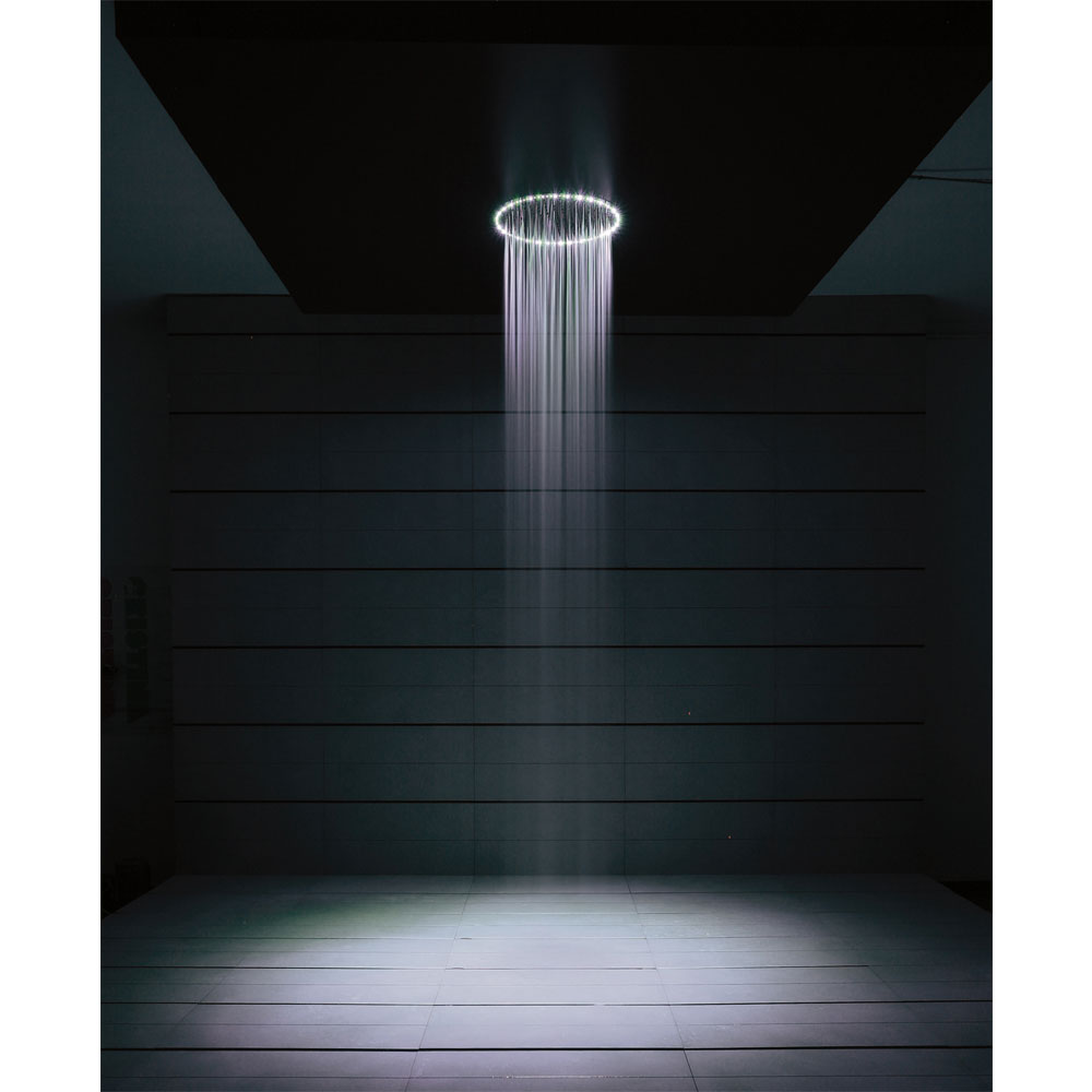 Crosswater - Rio White 240mm Round Showerhead with Lights and Arm profile large image view 3