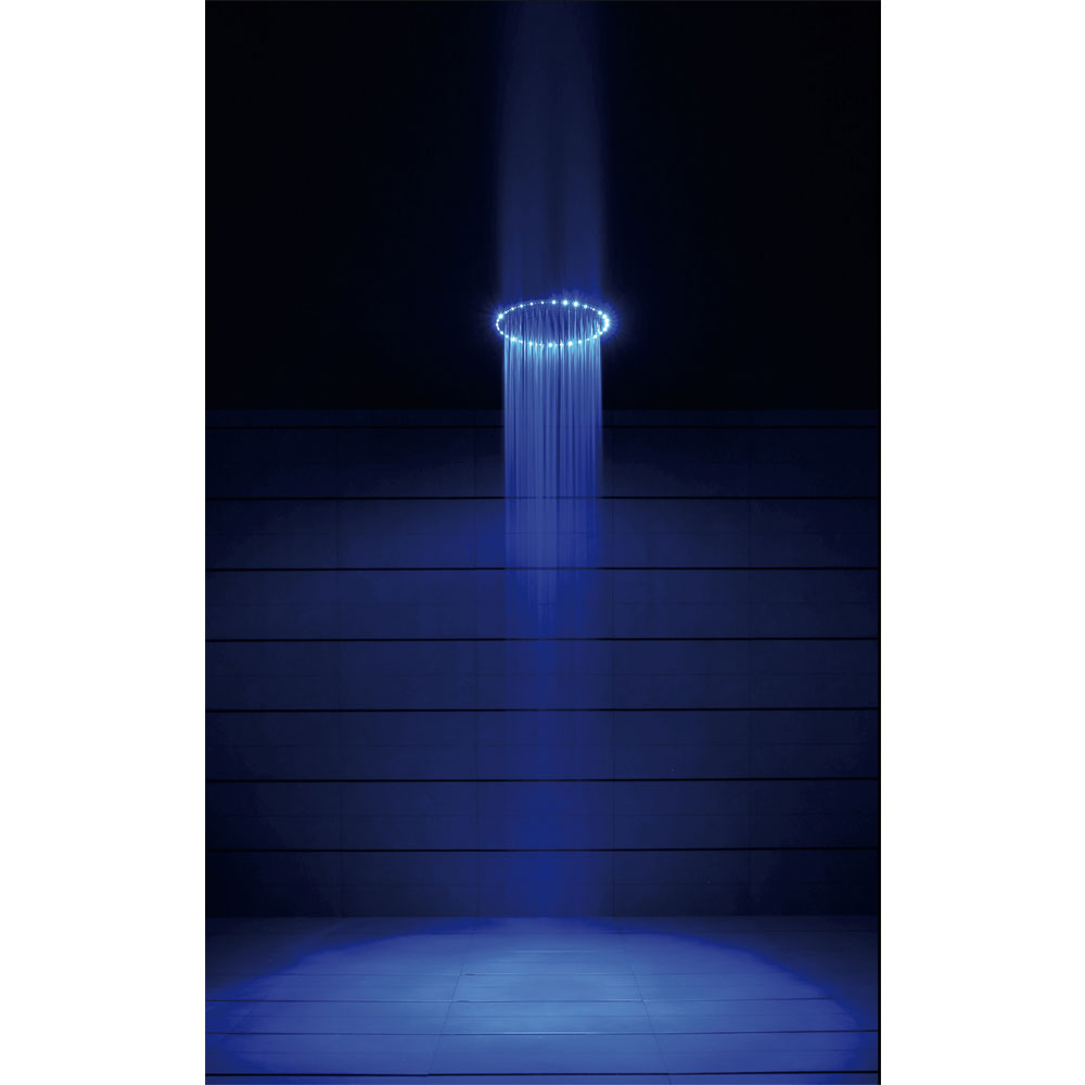 Crosswater - Rio Spectrum Round Showerhead with Lights and Ceiling Arm - FHX740C Profile Large Image
